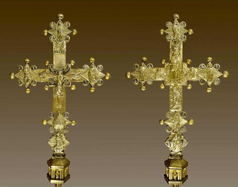Croce processionale di Borbona