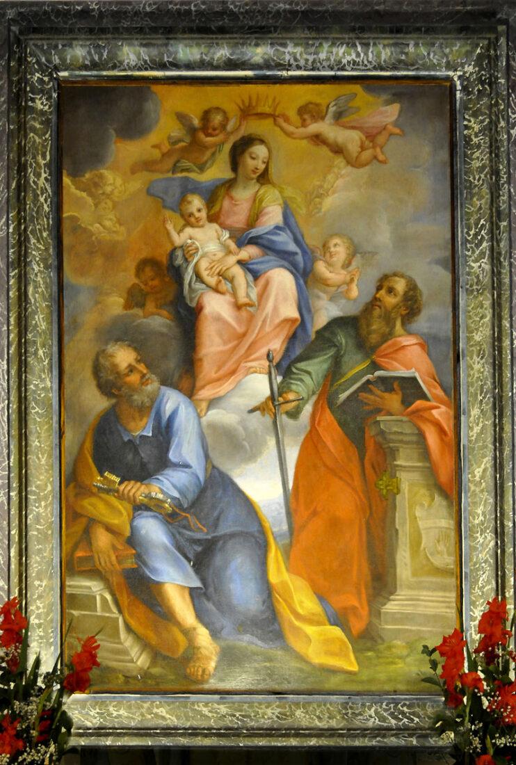 Chiesa di Santa Maria degli Angeli in Vallemare - Madonna fra gli angeli