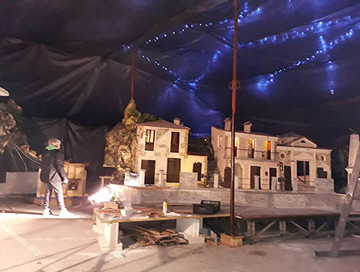 Borbona, Paese Natale, presepe in costruzione