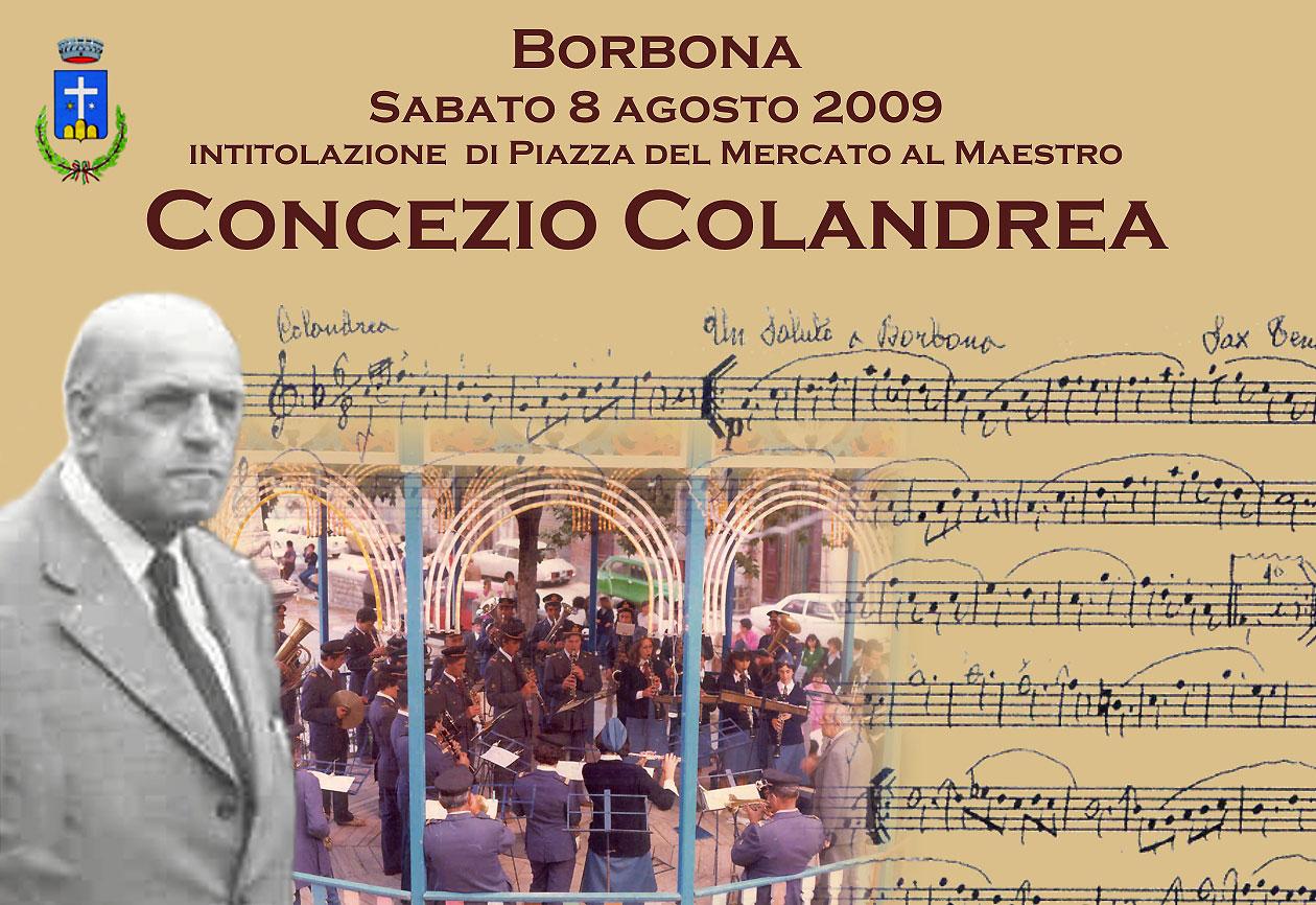 Borbona, inaugurazione della piazza intitolata al Maestro Colandrea